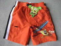 BRAND NEW Spongebob Swim Trunks - Size 4 (Orange)