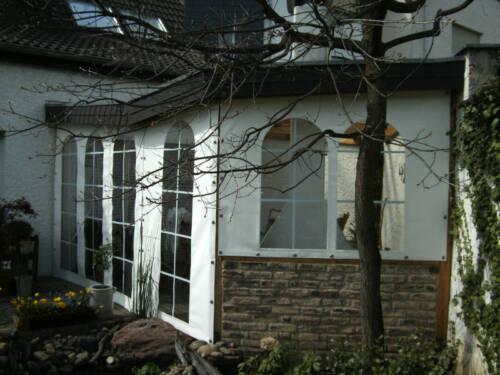 Terrassenverkleidung Carport Seitenplanen Wintergarten Windschutz