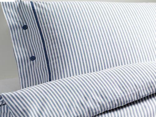 Ikea Blue Classic Ticking Stripe Duvet Quilt Cover 3pc