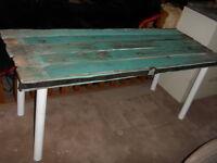 REDUCED Rustic Old Board Fence Table $75.00
