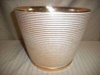 "8"" Gold Regal Ceramic Pot New in box Half Price Clearance!"