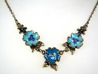 Bronze Finish Flower Necklace (02070335)
