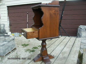 """EARLY AMERICAN  NIGHT TABLE or  TELEPHONE TABLE    """" NEW """" Windsor Region Ontario image 1"""