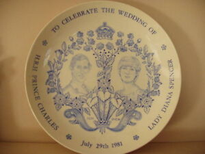 Prince Charles & Lady Diana Spencer collector plate