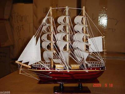 Hand Made Wooden Model Sailing Ship