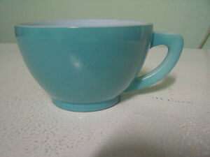 Turquoise Anchor Hocking Type Cup