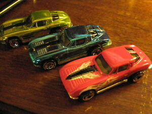 three hotwheels