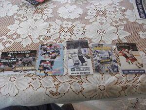 Older NHL Team Pocket Schedules