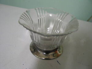 Crystal and Silver Plate dish