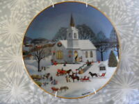 1992 Christmas Blessings Collectors plate by Martha B. Leone