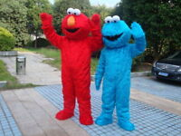 Elmo & Cookie Monster     and Gorilla
