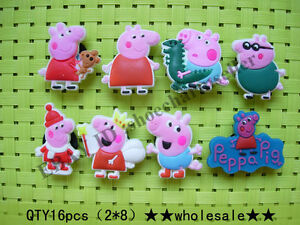 16pcs-Peppa-Pig-wholesale-shoe-charms-for-fit-jibbitz-crocs-carton-characters