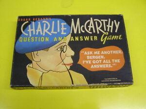 Vintage Charlie McArthy Game