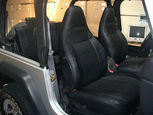 Jeep Wrangler Tj Sahara 1997 2002 Black S Leather Seat Cover