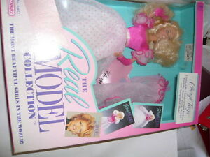 "barbie-'cheryl tiegs"" doll from real model collection matchbox"