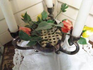 SILVER PLATE CANDLE AND FLOWER HOLDER Belleville Belleville Area image 2