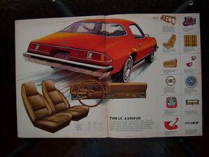 1975 Chevrolet Camaro dealer showroom catalog London Ontario image 3