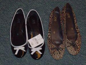 2 pair Ladies Flats size 8 London Ontario image 1