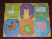 'Little animals' laminated print