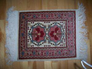 Petit tapis de pure soie