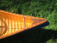 Hand crafted wood canvas canoes and restorations