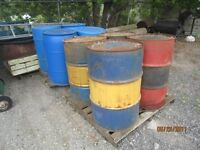 45 GALLON METAL DRUMS