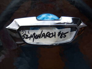 1952 1953 Ford Monarch chrome hood emblem bezel