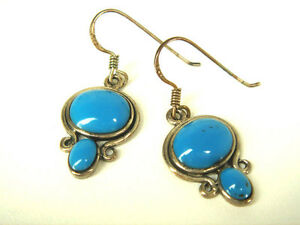 Turquoise Color Dangle Drop Earring (02031418)