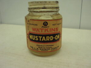 History in a Jar, Watkins Mustard-On Antique