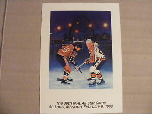 FS: 1988 Mario Lemieux / Wayne Gretzky All-Star Game Sheet London Ontario image 1