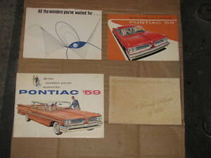 1959 Pontiac Dealer Brochures.