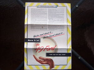 1949 Ford introductory advertising folder London Ontario image 3