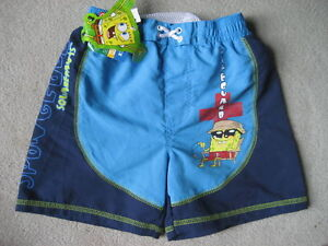 BRAND NEW SPONGEBOB SWIM TRUNKS - SIZE 4