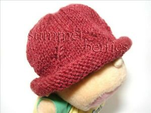 Baby Handknit Beanie Hat - Raspberry Color
