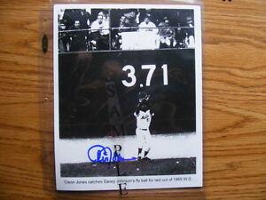 FS: 1969 Cleon Jones (New York Mets) 8x10 black & white Autograp London Ontario image 1