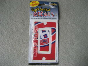BRAND NEW MONTREAL CANADIENS LIGHT SWITCH DECAL
