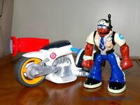 RESCUE HEROES SAUVETEUR SAUVETEURS DU MONDE voiture motorcycle