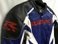 New Suzuki Motorcycle Leather Jacket Size L