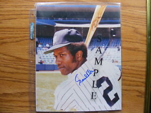 FS: Paul Blair (New York Yankees) 8x10 Autographed Photo London Ontario image 1