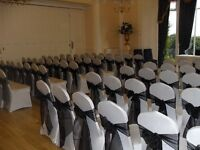 chair covers and sahes for hire £1