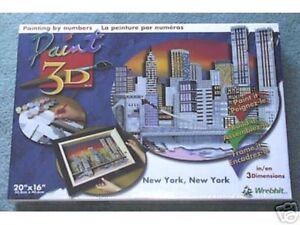 Wrebbit Paint 3D New York, New York Twin Towers Skyline