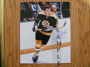FS: Fred Stanfield (Boston Bruins) 8x10 Autographed Photo London Ontario image 1