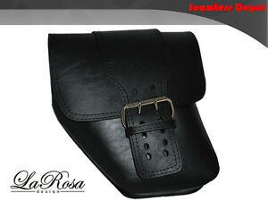 LaRosa-Dyna-Wide-Glide-FXR-Solo-Strap-Black-Faux-Left-Swing-Arm-Saddle-Bag