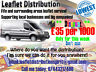Leaflet distribution (£35 per 1000) Flyer delivering door to door Fife