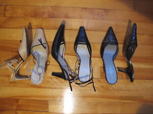 3 souliers pour femme à talon, size 7 1/2