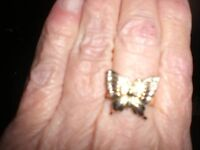 Gold / Diamond  Butterfly fRng