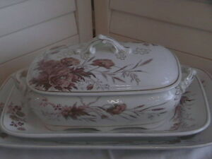 ANTIQUE SOUP TUREEN & MATCHING PLATTER Belleville Belleville Area image 1