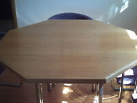 Octogon Wood Kitchen Table