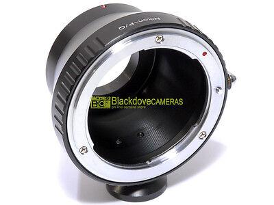Anello adapter per ottiche Nikon su corpi Pentax Q con innesto treppiedi.