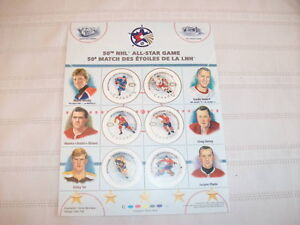 Stamps from Canada Post for 50th NHL All Star Game